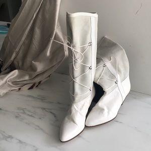 White leather boots/61/2/Francesca Martelli